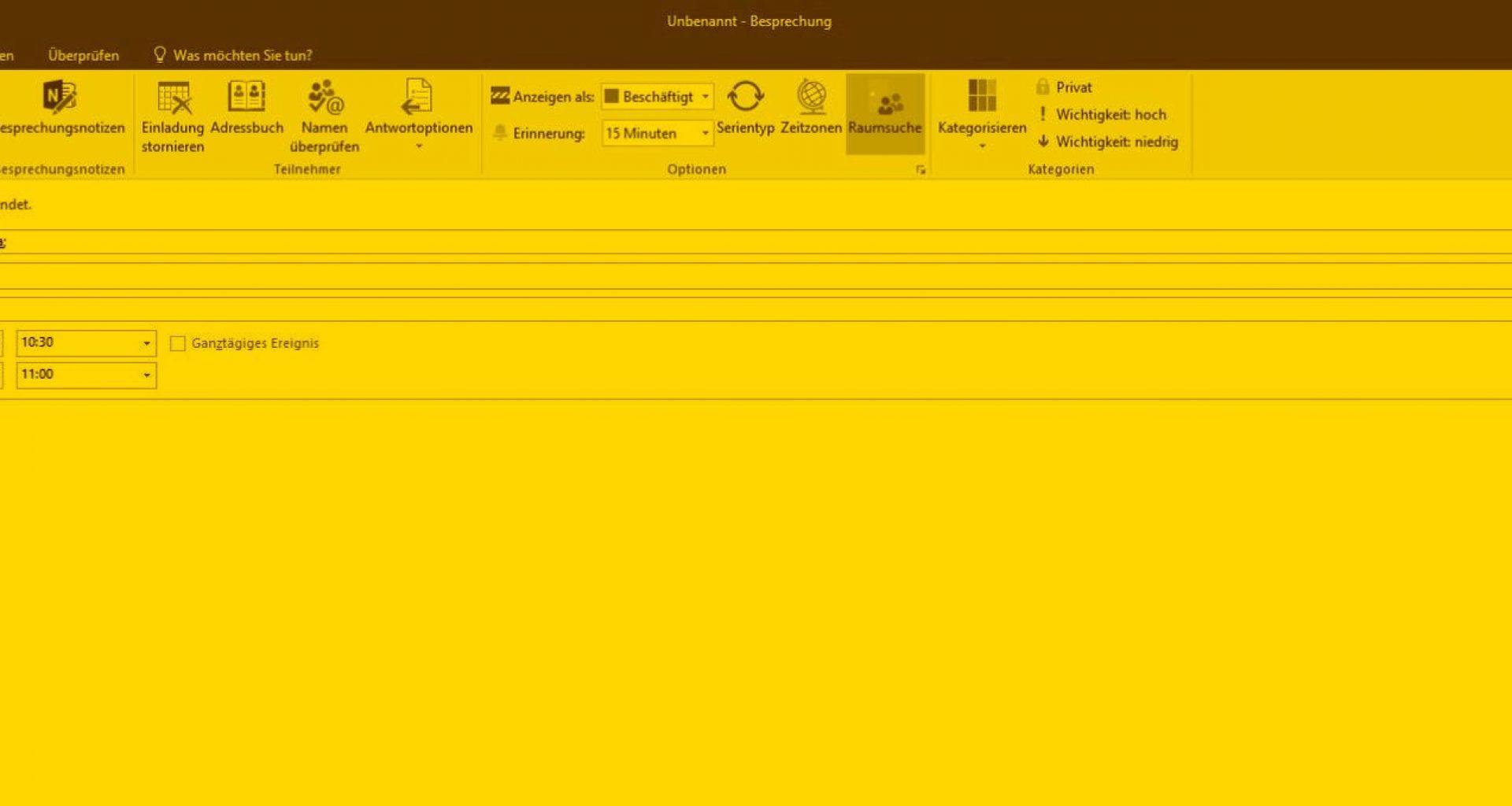 Terminvereinbarung über Outlook