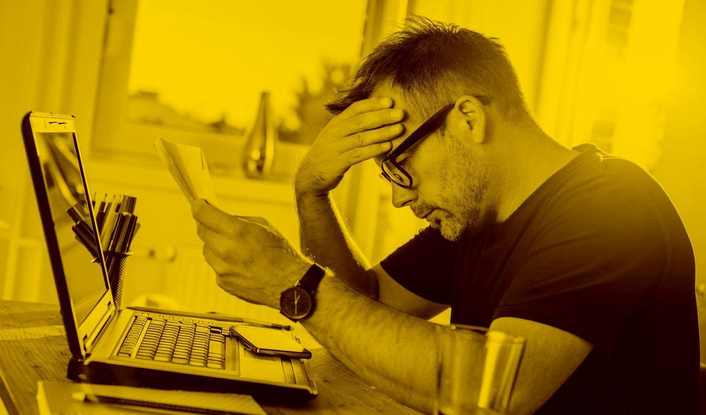 Man hat Datenverlust und ist gestresst